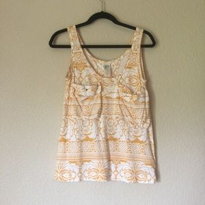 Anthropologie floral tank top size small (8-41)